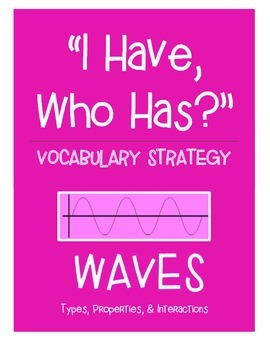 "Waves Vocabulary Strategy - ""I Have, Who Has?"" (19 cards)"