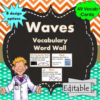 Waves Word Wall Science Vocabulary