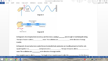 Waves an introduction - includes worksheets