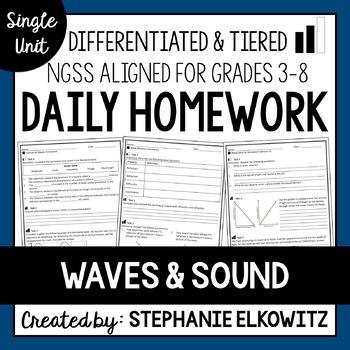Waves and Sound Homework
