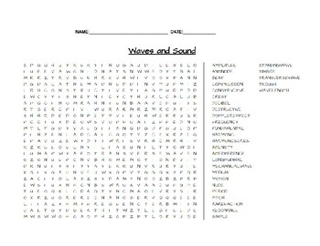 Waves and Sounds Word Search
