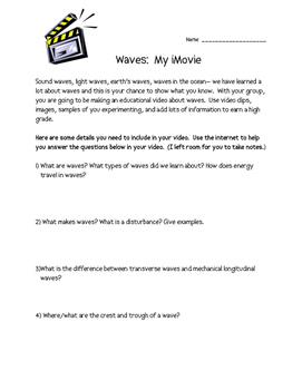 Waves iMovie Fourth Grade