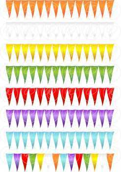 Waving Flags & Bunting Digital Labels and Borders Clipart by Poppydreamz