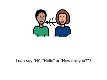 Waving Hello Social Story