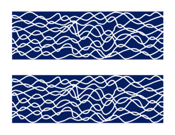 Wavy - 50 Color Border Set Series Bulletin Board Corners