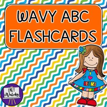 Wavy ABC Flashcards