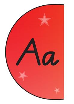 Wavy Alphabet Posters