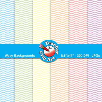Wavy Backgrounds — Pastel Colors (9 Backgrounds)