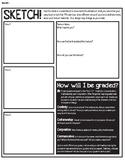 Wavy Bowl Sketch Sheet