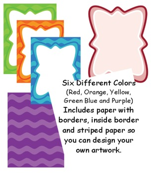 Borders: Wavy Colored Paper and Frames