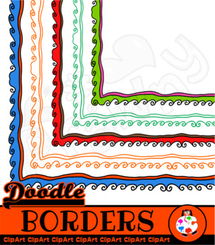 Wavy Doodle Page Borders