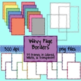 Wavy Doodle Page Borders - 39 Skinny Frames for Commercial Use