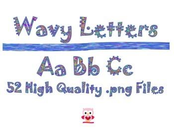 Wavy Letters Alphabet
