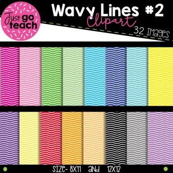 Wavy Lined Digital Paper Collection #2