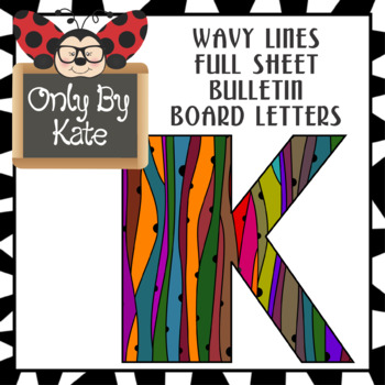 Wavy Lines Bulletin Board Letters