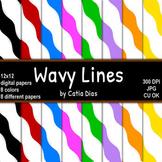Wavy Lines Digital Papers