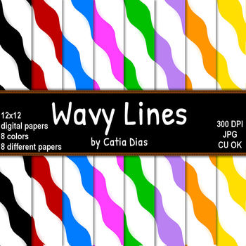 Wavy Lines Digital Papers