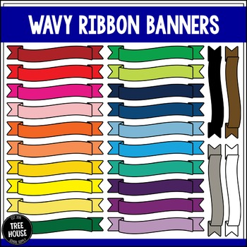 Wavy Ribbon Banners Clip Art/Graphics