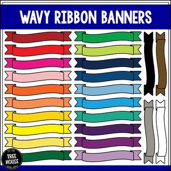 Wavy Ribbon Banners Clip Art/Graphics
