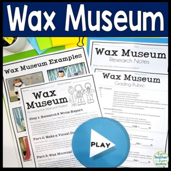 Wax Museum: Biography Book Report, Display and Dress-Up Day!