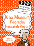Wax Museum Biography Research 6-8 CCSS Aligned with Differentiated Options