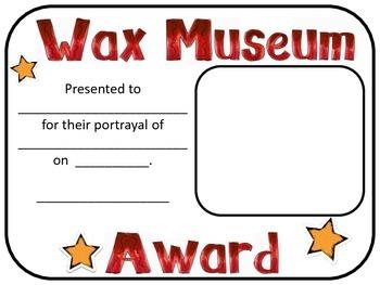 Wax Museum Award