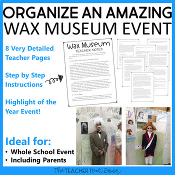 Wax Museum: Biography Research Report for 3rd - 6th Grade   Biography Project