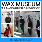 Wax Museum: Biography Research Report for 3rd - 6th Grade