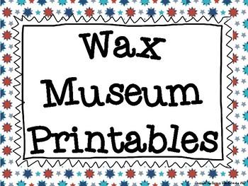 Wax Museum Printables