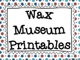 Wax Museum Printables
