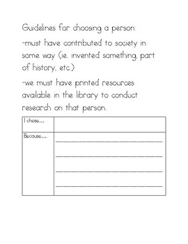 Wax Museum Research Packet