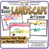 Art Lesson Wax Resist Landscape Geography Integrated