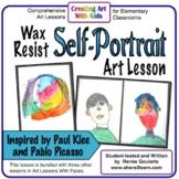 Art Lesson Wax Resist Self-Portrait