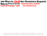Way # 1 on How to PASS the Chemistry Regents