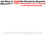 Way # 2 on How to PASS the Chemistry Regents