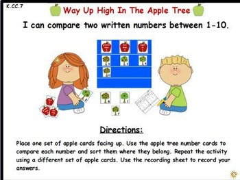 Way Up High in the Apple Tree- Comparing 2 Written Numbers