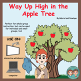 Interactive Book for Speech Therapy:  Way Up High in the Apple Tree