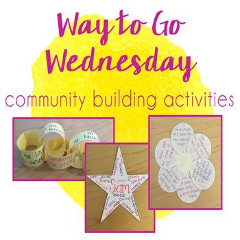 Way to Go Wednesday - Community & Team Building Activities