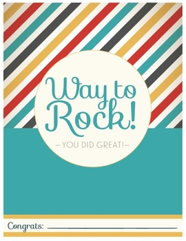 Way to Rock Certificate - 70's Style