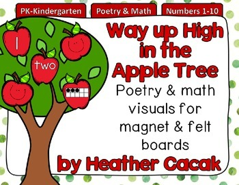 Way up High in the Apple Tree Felt & Magnet Board Activity (Math & Literacy)