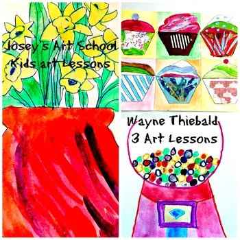 Wayne Thiebaud Art History Lessons 3 Pack History Lesson with Art Projects