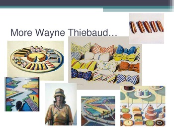 Wayne Thiebaud Art PowerPoint
