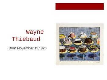 Wayne Thiebaud Contemporary Artist