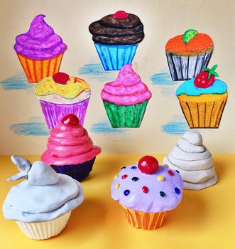 """Wayne Thiebaud Cupcakes"" - Complete Lesson"