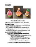 Wayne Thiebaud Inspired Clay Cupcakes