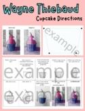 Wayne Thiebaud Inspired Cupcake Art Project