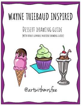Wayne Thiebaud Inspired Dessert Drawing Guide Bundle
