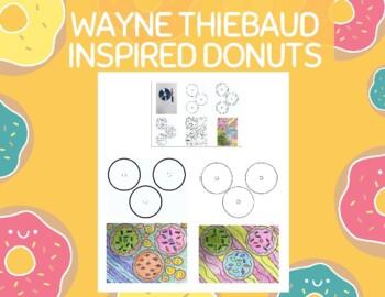 Wayne Thiebaud Inspired Donut Art Project