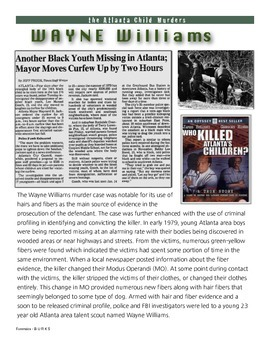 Wayne Williams - the Atlanta Child Murderer