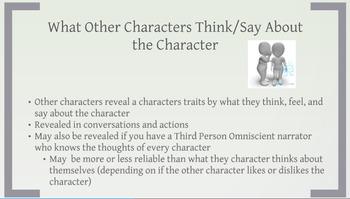 Characterization Prezi